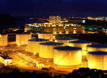 16248173-oil-tanks-at-night